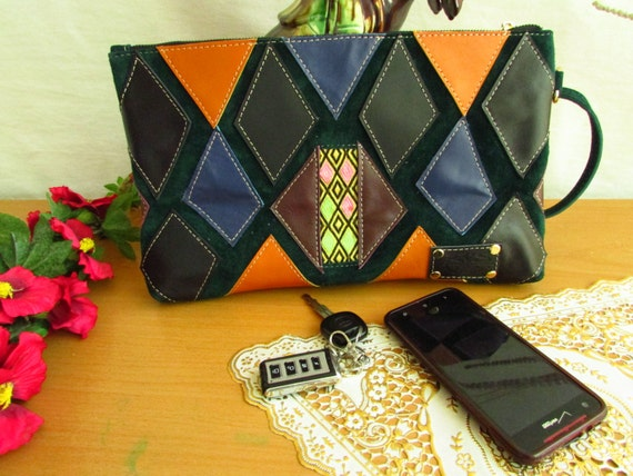 women colorful bag, leather clutch bag, lady's clutch, Wedding clutch, women evening purse, zipper clutch bag, women wallet