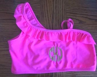 personalized monogram girls swimsuit
