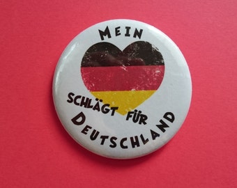 Button football Germany - my heart beats for Germany