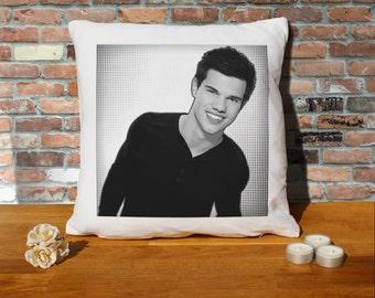 Taylor Lautner Cushion Pillow - Pop Art - 100% cotton - 16x16 inches