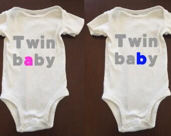 Twin Baby A/B bodysuit