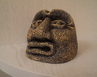 Interior, Interior Design, Decoration, Miniature, Art object, stone head, to the desktop, facial expressions, sculpture, carved