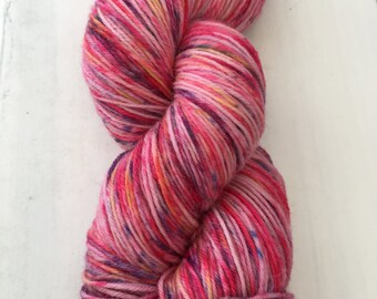 Hand-dyed sock yarn pink dream