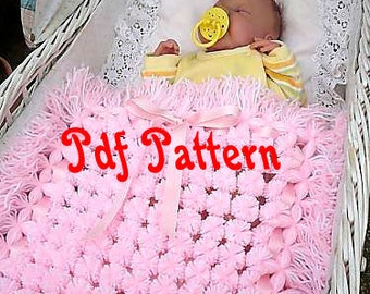 PDF Pattern_ step by step tutorial_pom poms rug_pom poms blanket_baby blanket_Digital Instant Download_layer blanket_unique handmade gift