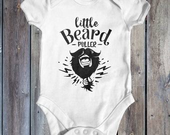 Little Beard Puller Baby Bodysuit   Dad Gift From Baby   Cute Baby Clothes   Funny Baby Bodysuit   Hipster Baby Clothes   Fathers Day Baby