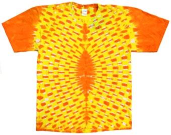 Tie Dye Shirt - Yellow/Orange - XL - #5013