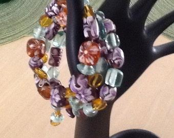 Beautiful assorted  Glass Beaded Bracelet: