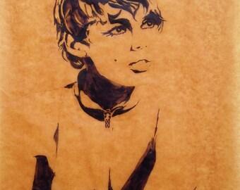 Brown Edie Sedgwick Poster