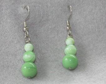 Spring Green Glass Earrings