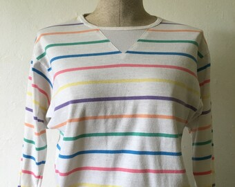 Pastel Striped Sweater Top