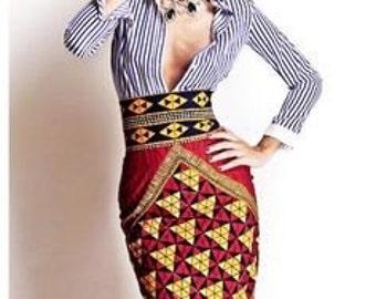 African pencil skirt// African skirt, ankara skirt, fitted skirt