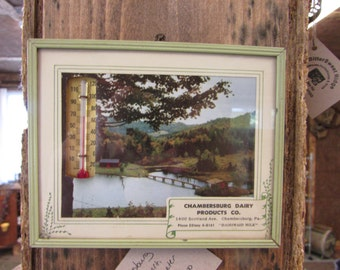 Vintage Chambersburg Dairy Advertising Thermometer