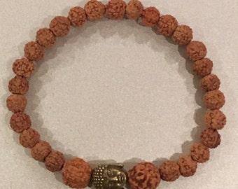 Bodhi beads with Budha charm, Yoga Bracelet, Meditation Bracelet.