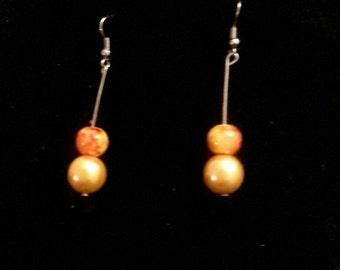 Boucles d'oreilles  pendante Boucles d'oreilles goutte boucles d'oreilles perles boucles d'oreilles perles marbré