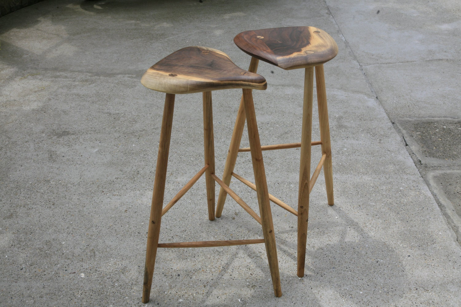 Walnut Bar Stools Inspired By Esherick