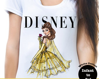 Belle Vogue Shirt, Beauty And The Beast Vogue Shirt, Disney Vogue Shirt, Disney Princess Vogue Shirt