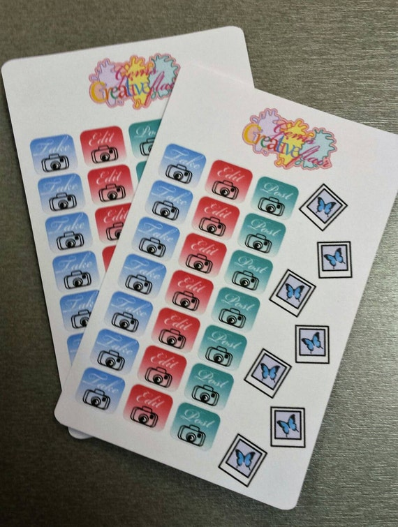 Take, edit, post stickers/planner stickers