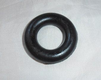 Soviet plastic sport ring palm extender hand exercise ring black rubber sport practice ring plastic ring sport exercise made in USSR 80s