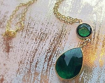 Green Gem Pendant Necklace