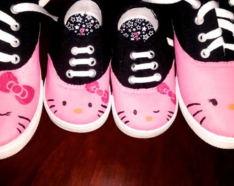 ADULT Hello Kitty hand painted shoes