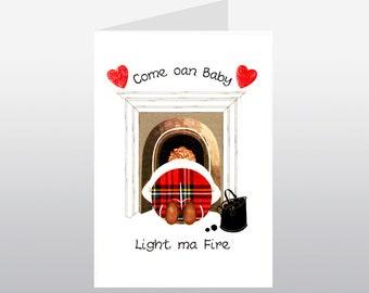 Scottish Lovey Dovey Card Light Ma Fire WWLD07