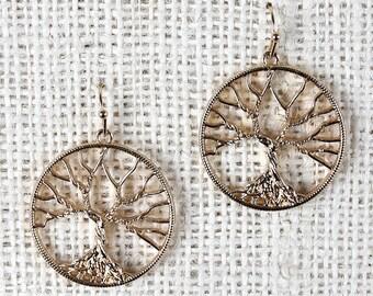 Barren Tree Earrings - Gold