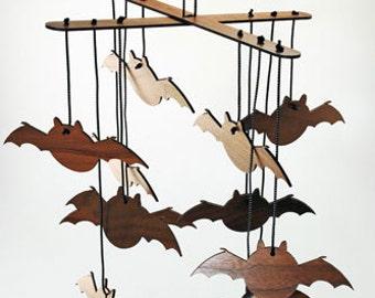 Halloween Bat Mobile Decor Craft - Unpainted
