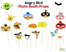 Angry Bird Photo Booth Prop Instant Download