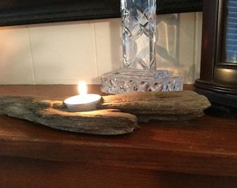 Single Tealight Driftwood Candle Holder