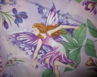 Dreamland Fairies ,Purple pansy w/GlitterTimeless treasures