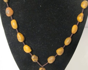 Spacial Rustic  Brown Agate Necklace