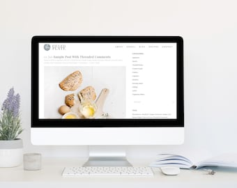 Custom Complete Food Blog Design with Logo