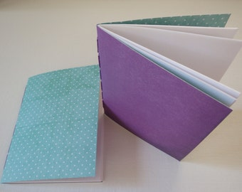 Blank Notebooks (small; 4 x 5 1/2in), Set of 2, Sketchbooks, Small Journal, Memo Books