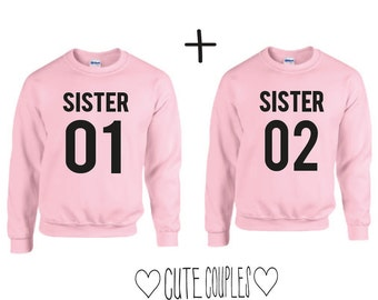 Sisters letter couple hoodie sweater friends