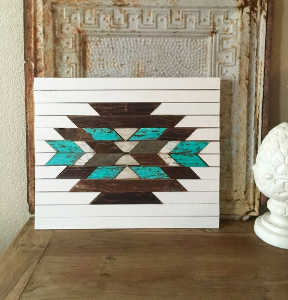 Aztec Wall Art Southwestern Reclaimed Wood Wooden Home