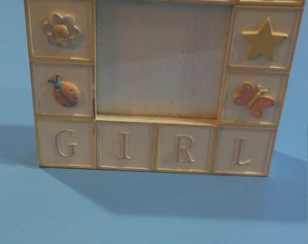 Baby Girl Block Picture Frame