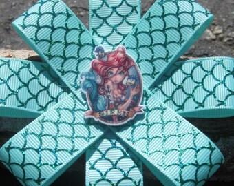 Little Mermaid baby Headband~Ariel infant Headband~Green Disney Princess Headband~Toddler Headband