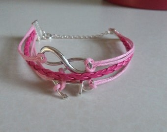 Infinity anchor bracelet