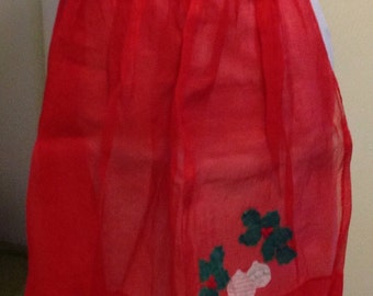 Vintage Christmas Hostess Apron