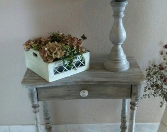 Small decorative table solid wood patina