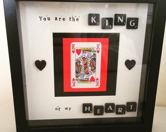 King of my Heart Box Frame