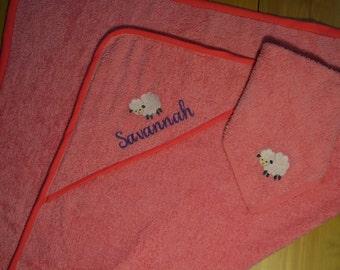 Personalised Baby Hooded Towel