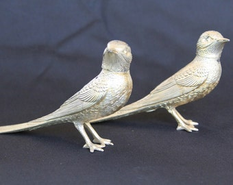 50% OFF!! Vintage Silver Bird Salt and Pepper Shakers