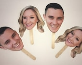 Photo Props - Pictures on Sticks - Bridal Shower game - Birthday Party - Photo Booth Prop - Bid Head prop - Bachelorette Bachelor Party Prop