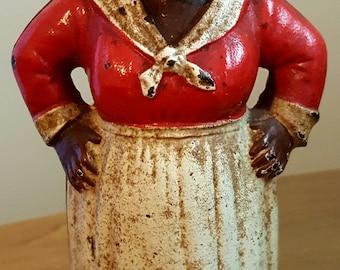 Vintage Aunt Jemima Black Americana Memorabilia Cast Iron Bank