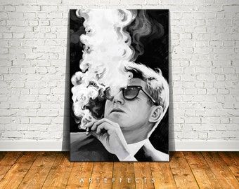 John F Kennedy Canvas High Quality Giclee Print Wall Decor Art Poster Artwork