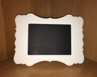 White Chalkboard Frame