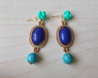 Classy and elegant turquoise earrings