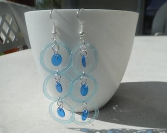 pretty pair of earrings plastic water bottle