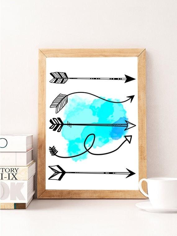 Arrow Wall Decor For Nursery : Arrow wall print nursery decor handmade by
